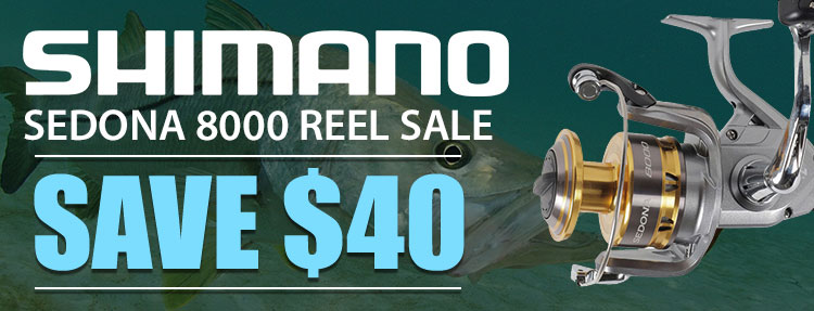 SHIMANO Sedona 8000 Reel Sale. Save $40 off