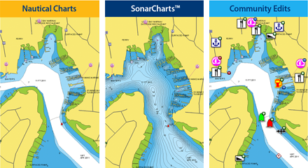 Navionics Nautical Charts, SonarCharts, Community Edits
